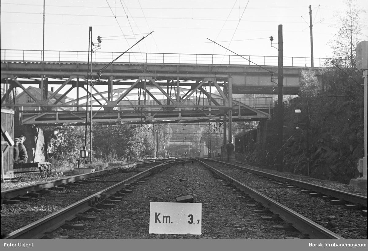Hovedbanen : linjeføring km 3,7