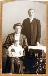 Familiebilde Haaland i Grindheim.