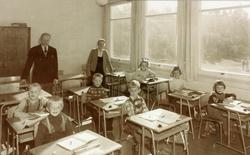 Småskolen på Byremo, 1. klasse. Grindheim senere Audnedal.