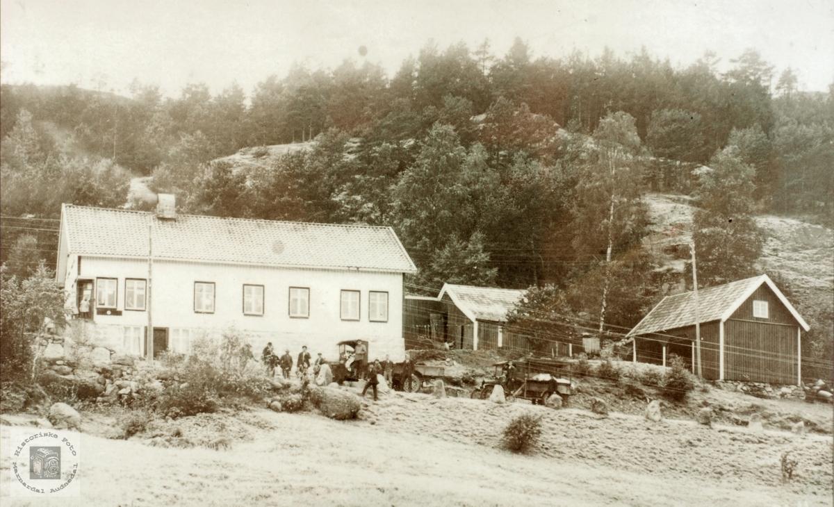 J. G. sin butikk på Byremo, Grindheim senere Audnedal.