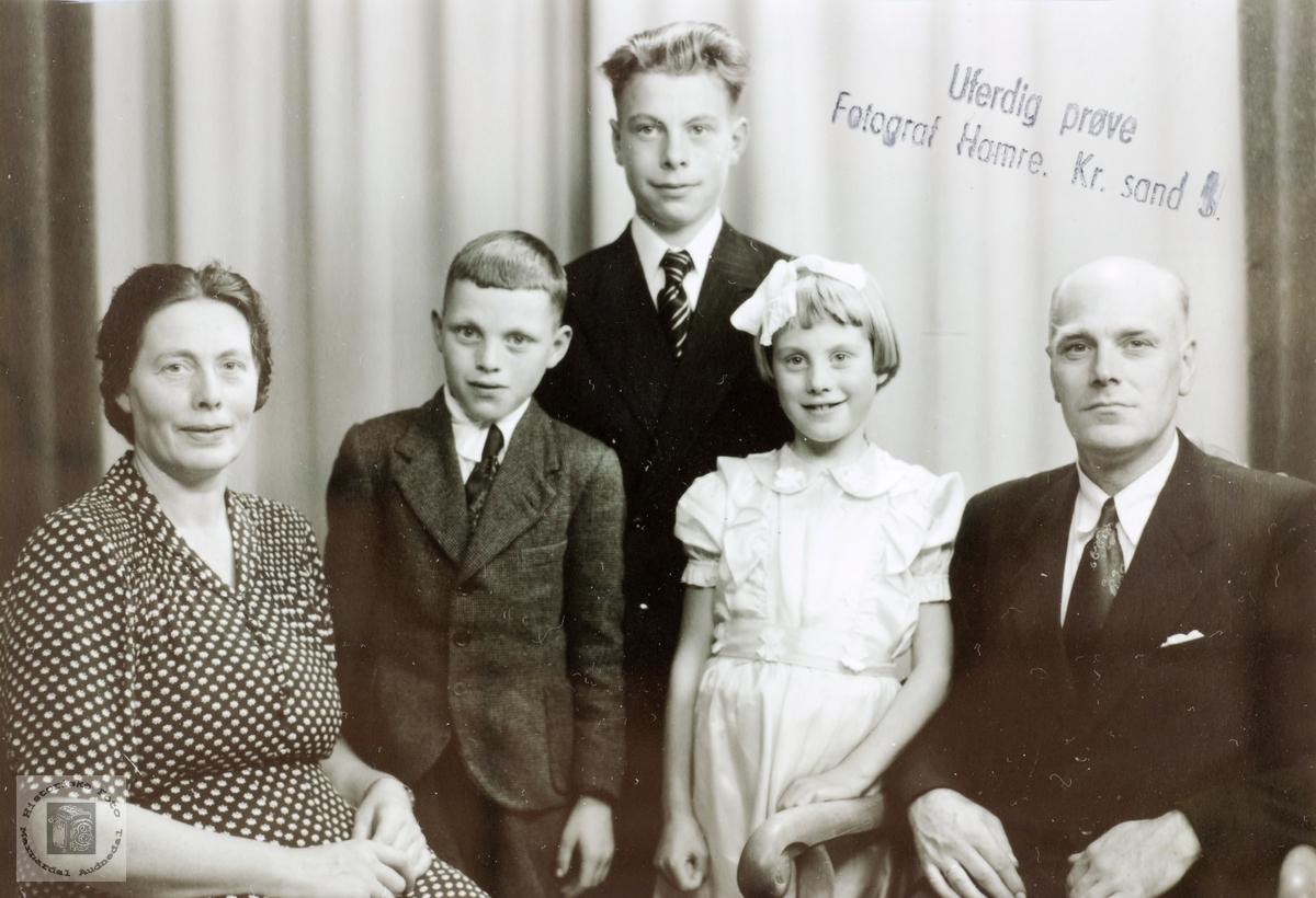 Familiebilde Rudlende. Grindheim Audnedal.