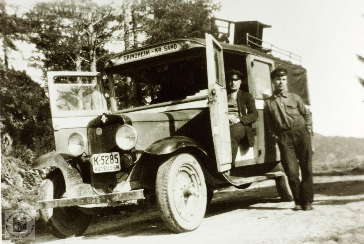 Bussen Grindheim-Kristiansand. Chevrolet, 1931-32.