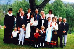 Dobbel barnedåp ved Grindheim kirke. Grindheim Audnedal.
