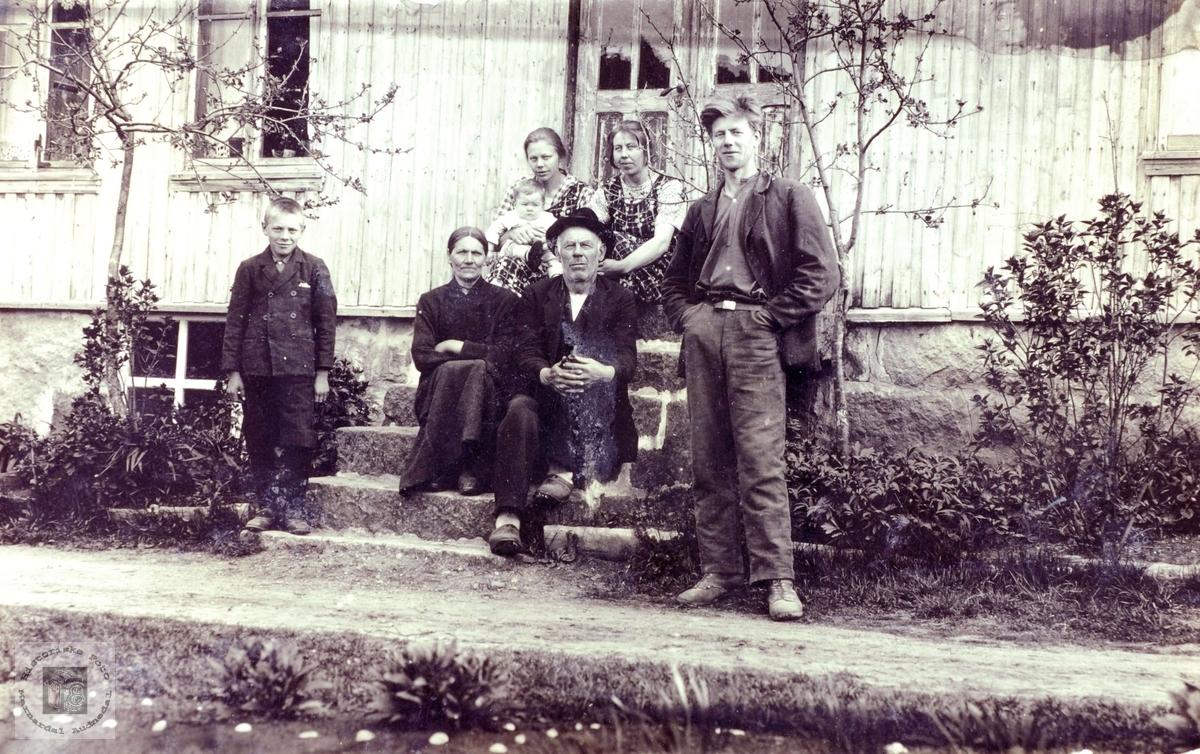 Familiebilde fra Grindheim.