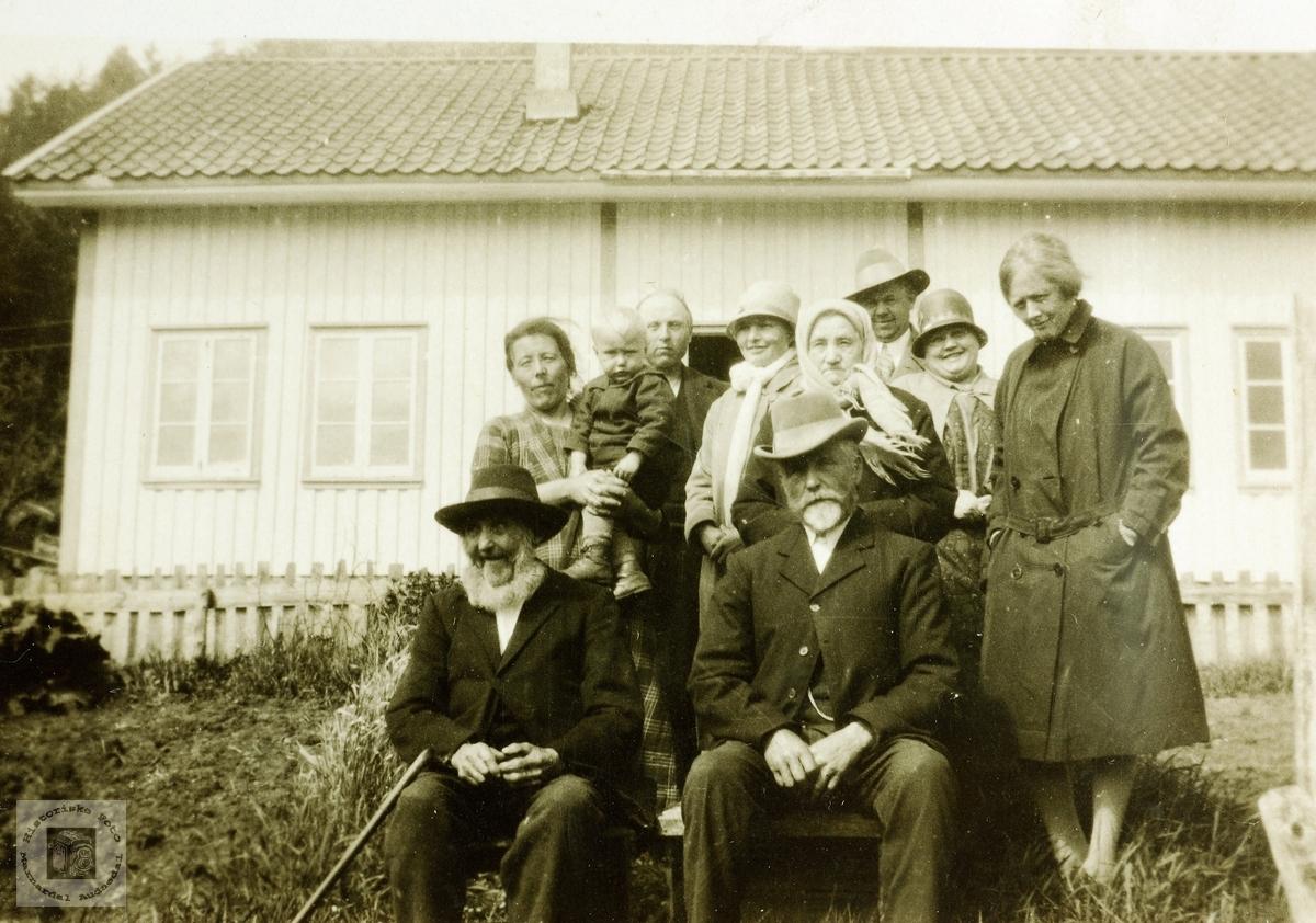 Besøk fra Reddal. To brødre møtes. Håland Grindheim.