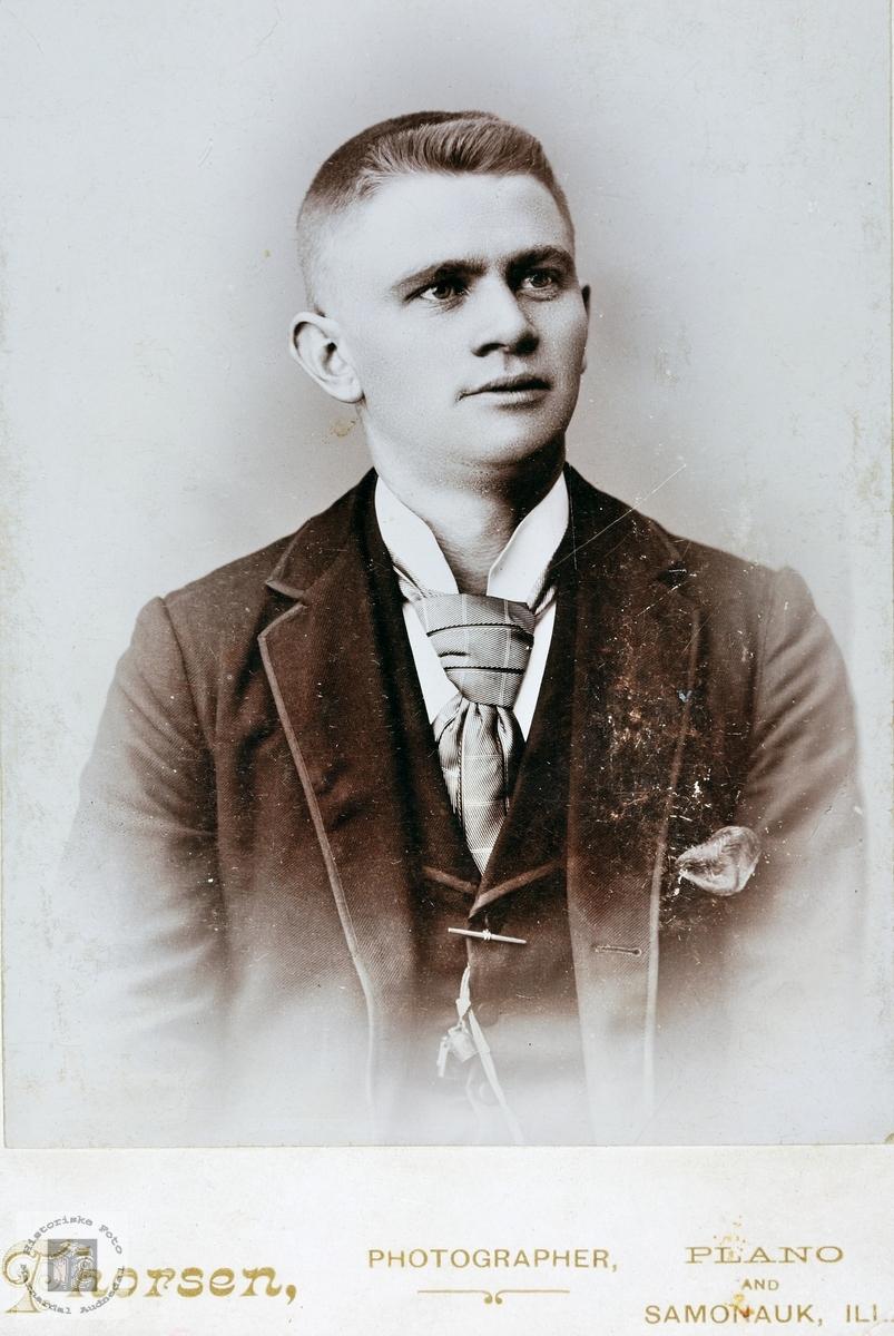 Portrett av Halvor Leland. Grindheim.