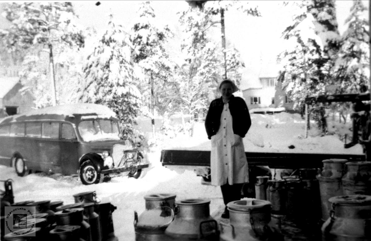 Bjelland fløtemeieri i 1950 åra.