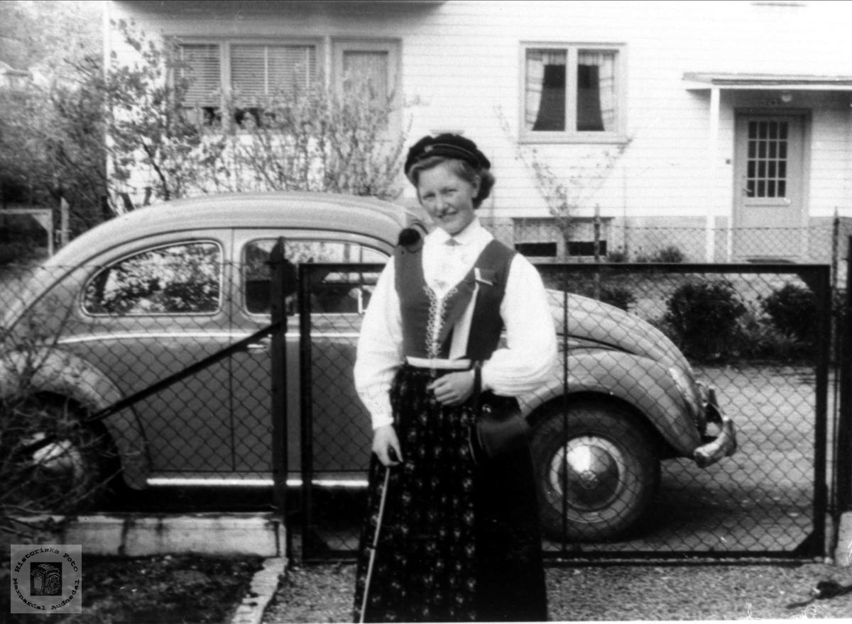 Portrett av Ingeborg Haugland gift Andresen, Bjelland.