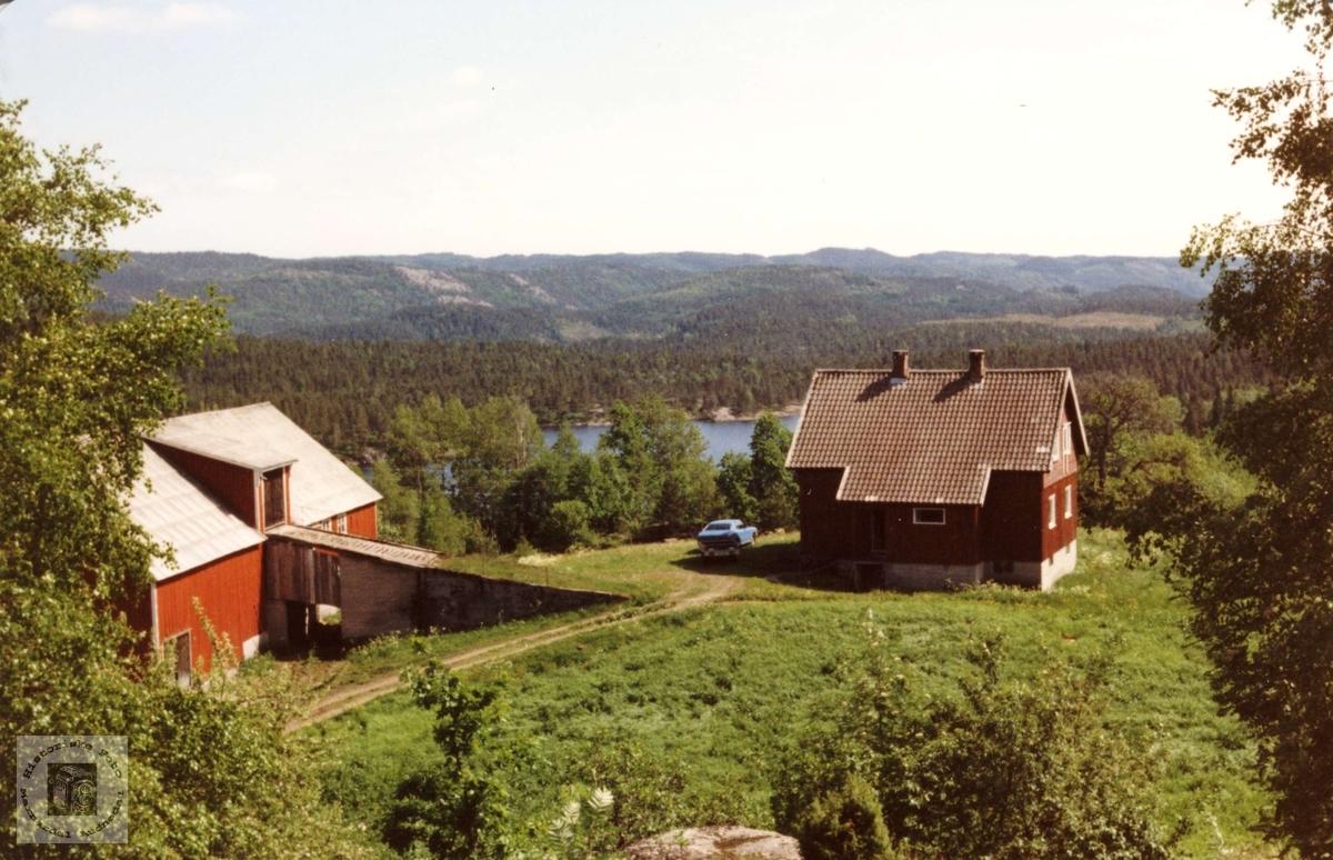 """Garden """"Der ute"""" på Bjerland i Bjelland, nye hus etter brannen i 1940"""