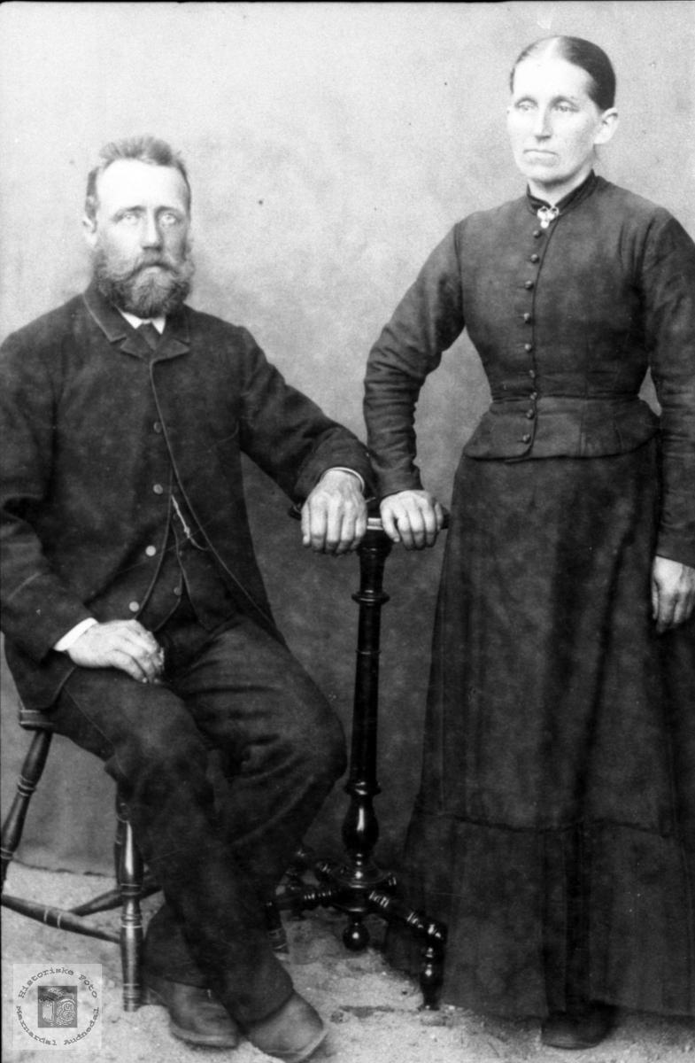 Portrett av Bent og Ragnhild Løvdal, Laudal.