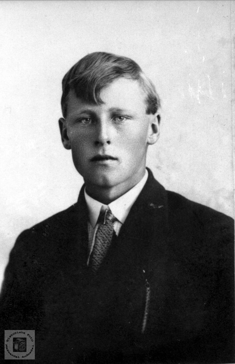 Portrett av Alf D. Skuland, Laudal.
