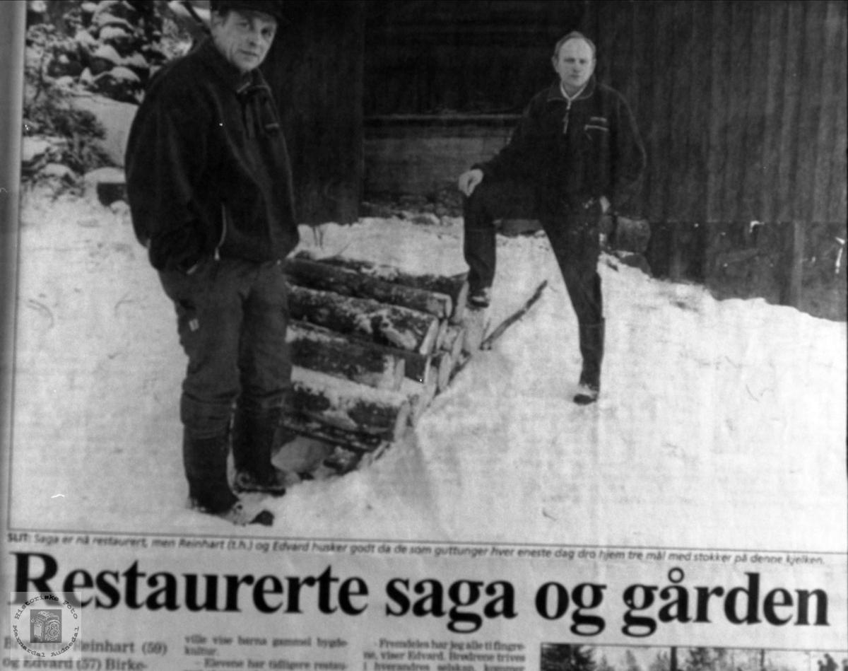 Stavbuttene til saging på Birkeland, Laudal.