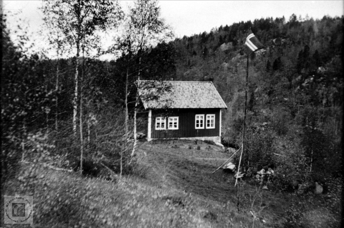 Bolighus på gården Haddeland, Breland i Øyslebø.