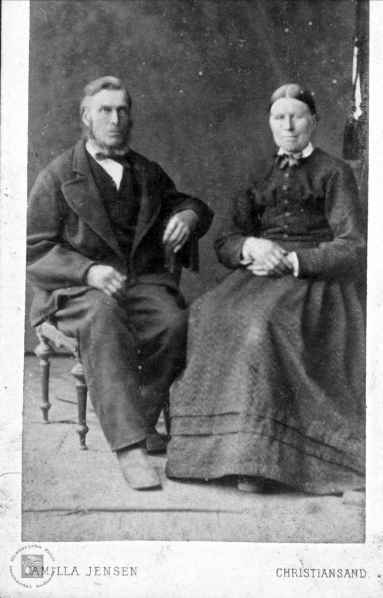 Ekteparet Gundleif og Tarjer Fossestøl, Øyslebø.