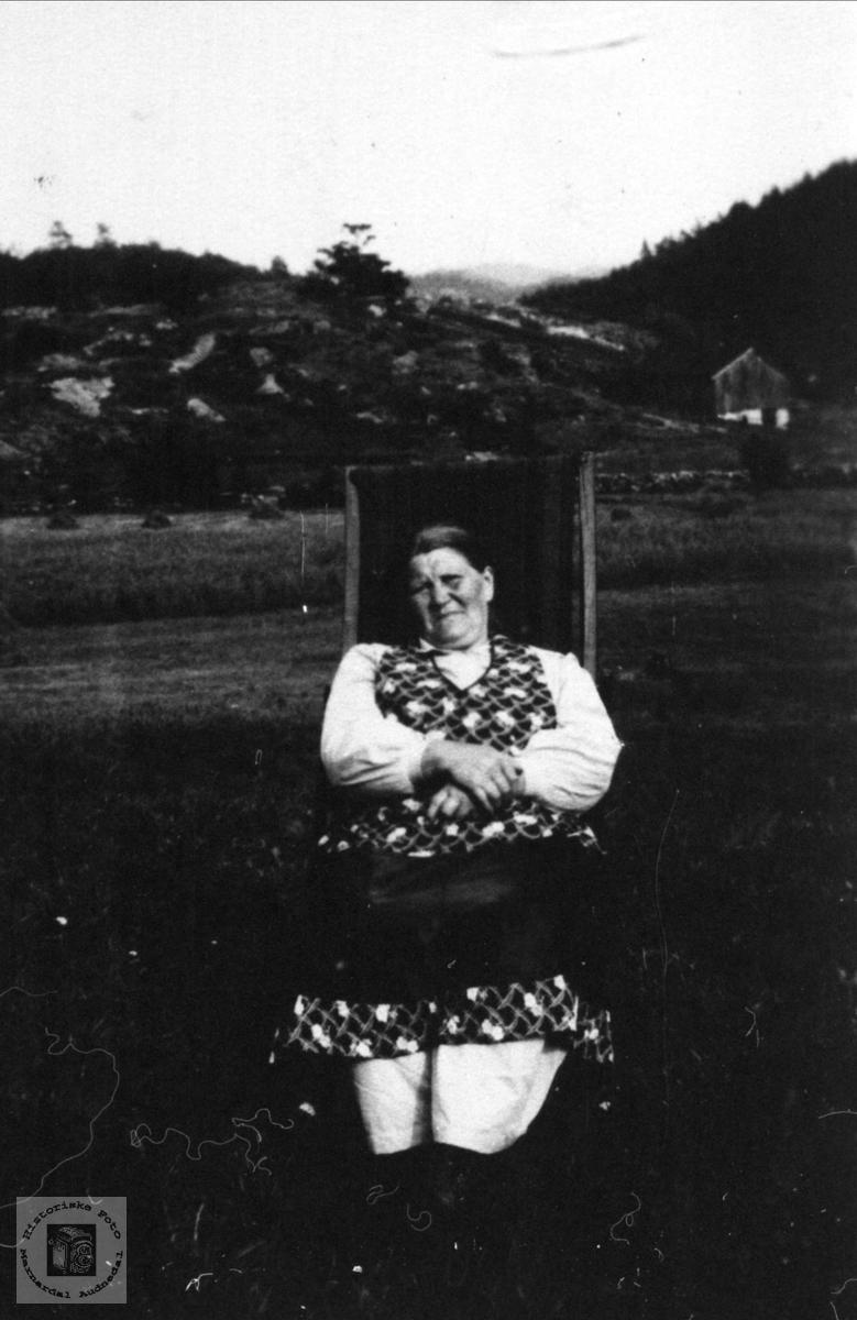Portrett av Tarjer Skoddan, Øyslebø.