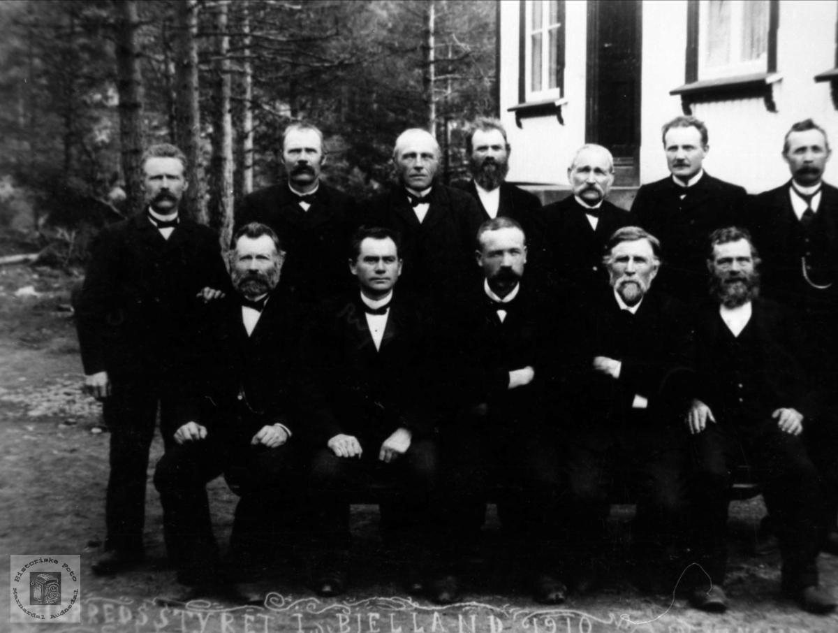 Bjelland kommunestyre 1910.