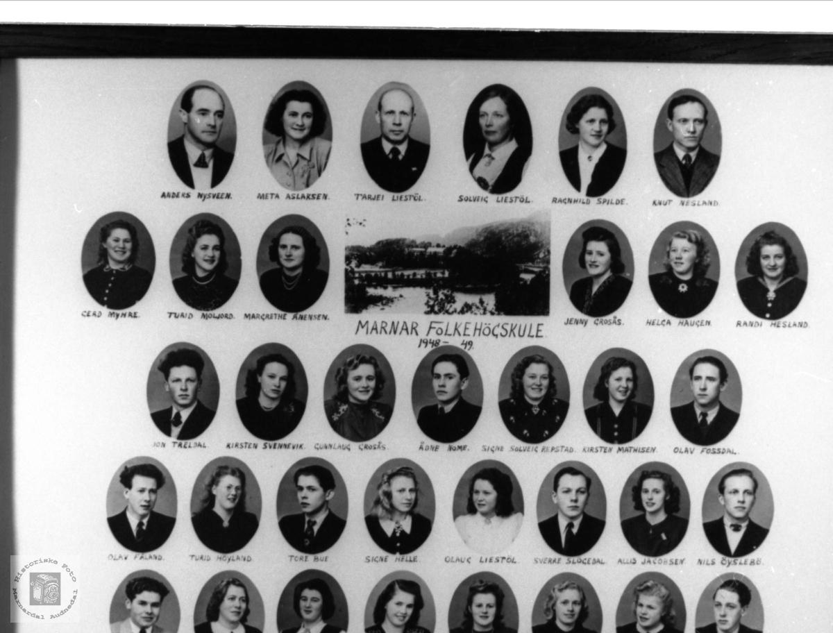 Marnar Folkehøgskole 1948-1949