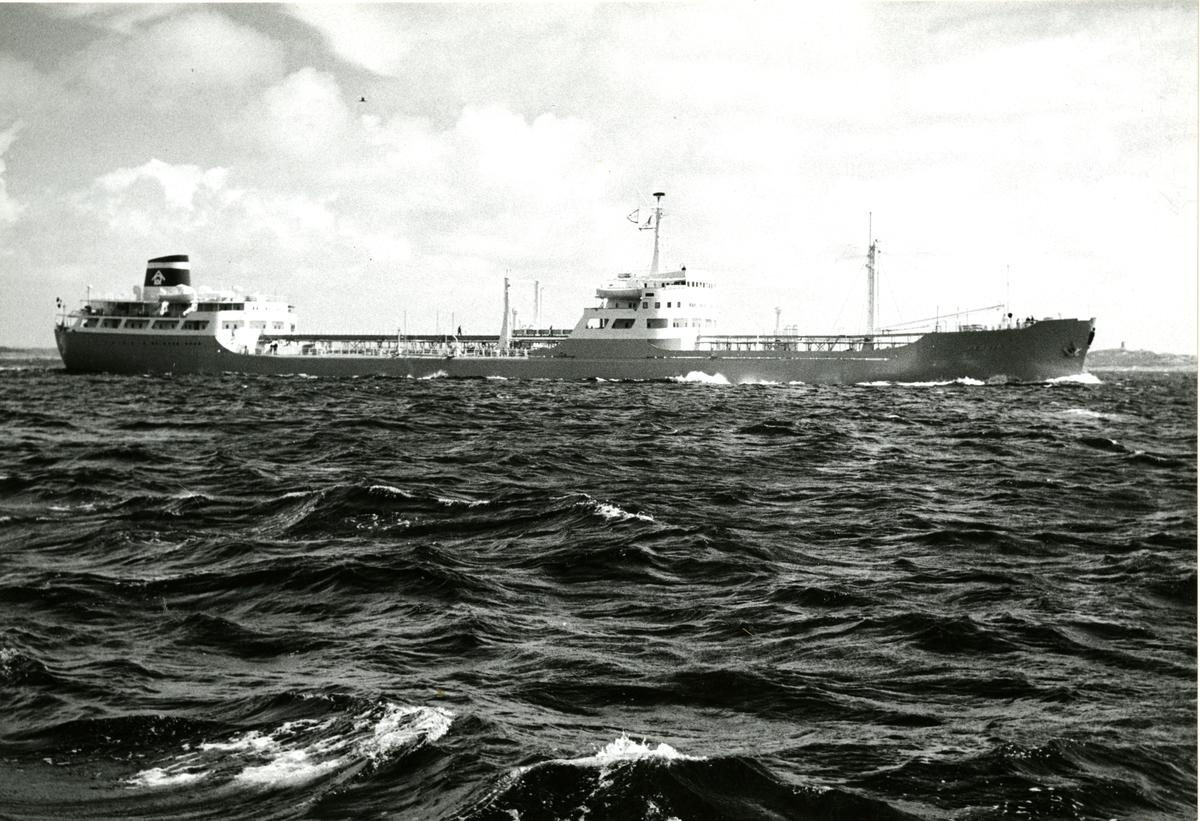 Prøvetur med M/T 'Beduin' (b.1959, A/B Götaverken, Göteborg).