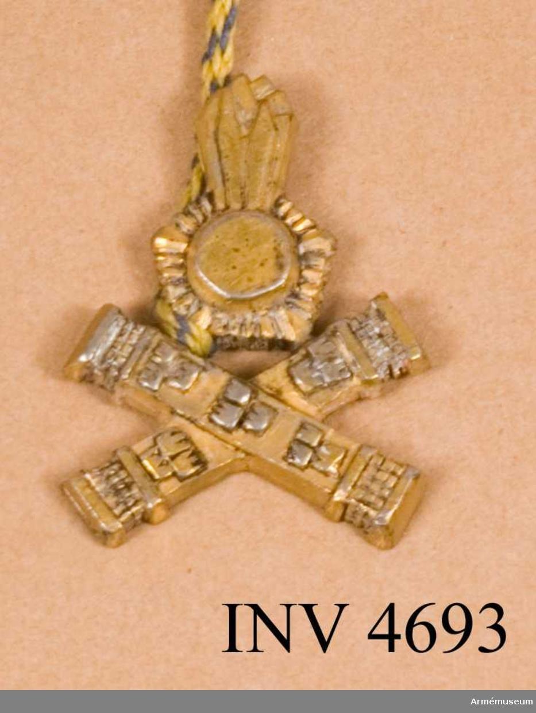 Fälttygkåren  bildades år 1936 och ingick i denna tekniska stabsofficerare  (TSO) vilka hade militär och många gånger även civil högskola  som bakgrund. Denna kategori erhöll år 1960 ett särskilt personalkårstecken, tillverkat av metall och i guldfärg.  Detta är byggt på fälttygkårens emblem varunder två korsade  marskalkstavar lagts. År 1974 överfördes kåren (TSO) till generalstabskåren och  anläggs nu generalstabskårens personalkårstecken. Det särskilda tecknet för TSO utgick därmed.
