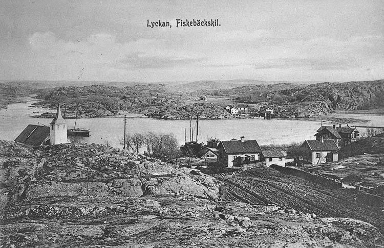 """Vykort. """"Lyckan, Fiskebäckskil""""."""