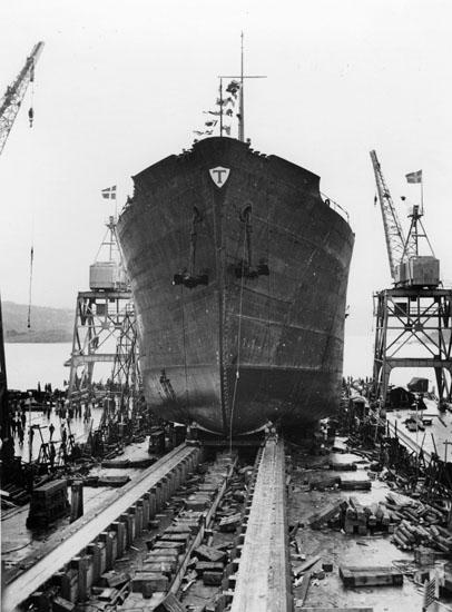 Sjösättning av fartyg 126 M/T Aslaug Torm.