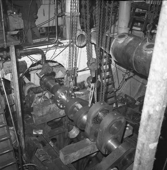 En reparents maskinrum.