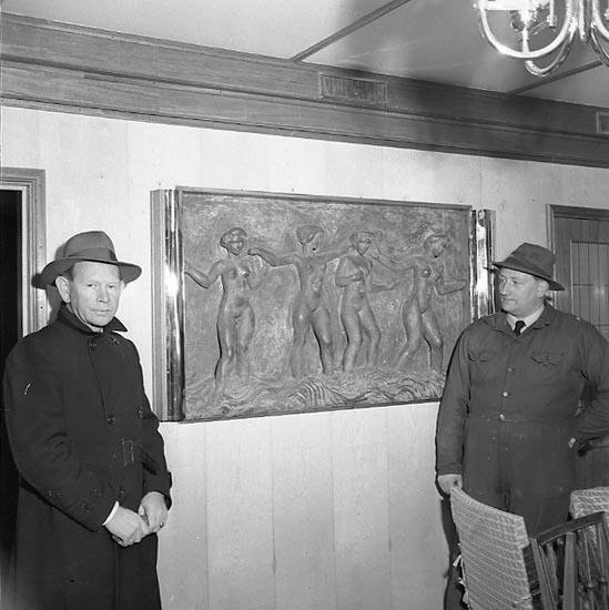 """Enligt notering: """"Konstutställning Nov 1950""""."""