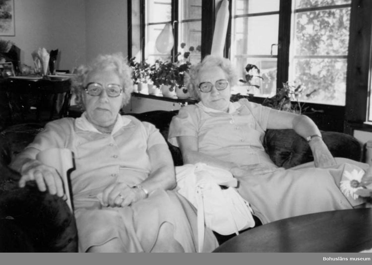 Rosa och Irma Bohlin 1986