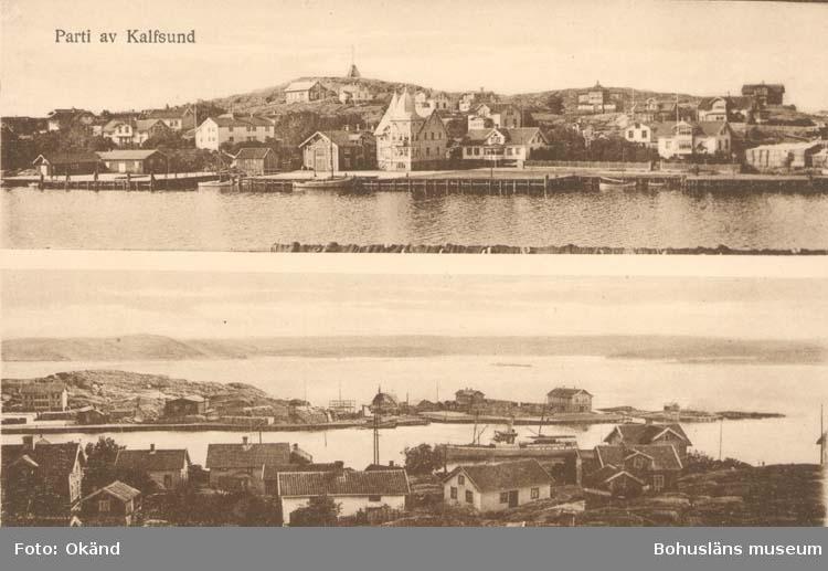 """Tryckt text på kortet: """"Partier från Kalvsund."""""""
