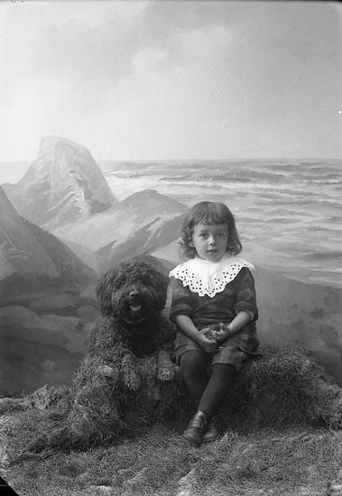 """Enligt fotografens journal nr 3 1916-1917: """"Gösfeldt, Allan Tveten Spekeröd""""."""