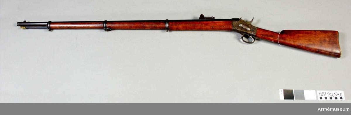 Grupp E II.  Med Remingtons mekanism för infanteriet.