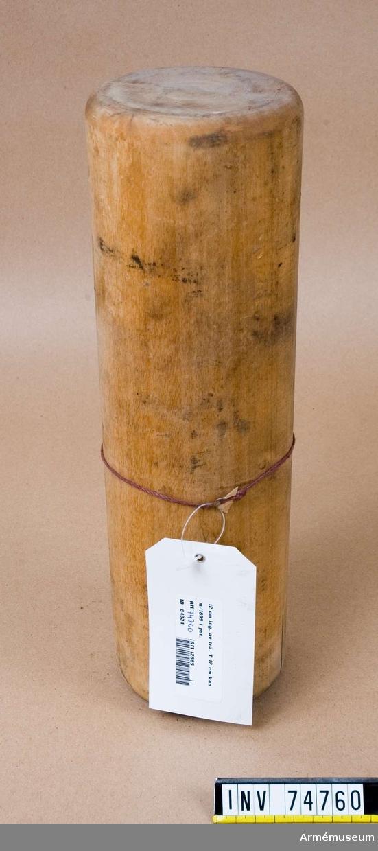 Grupp F.IV. Blind ammunition av trä.