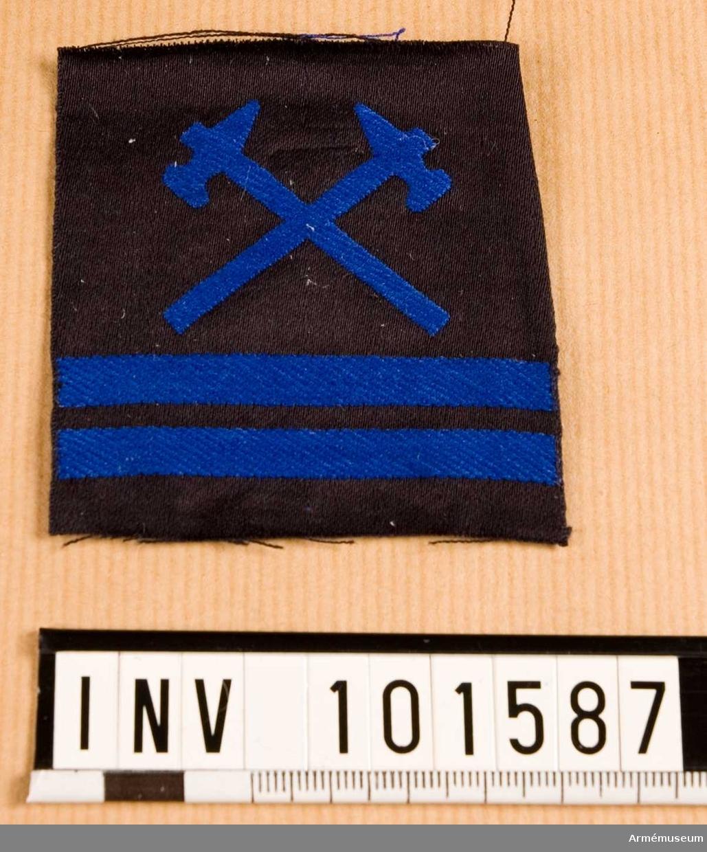 Gradbeteckning: vapensmed, värnpliktig, korpral, marinen.