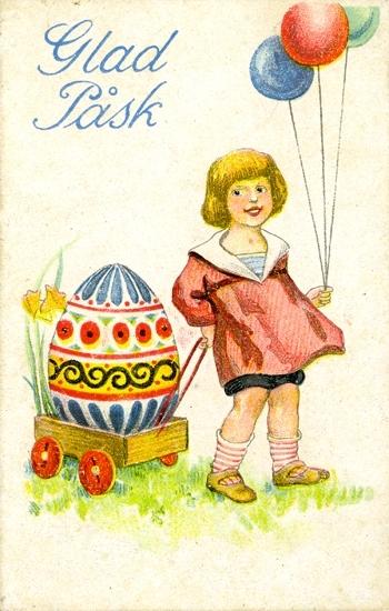 Notering på kortet: Glad Påsk.