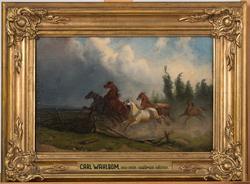 Skrämda hästar [Målning]