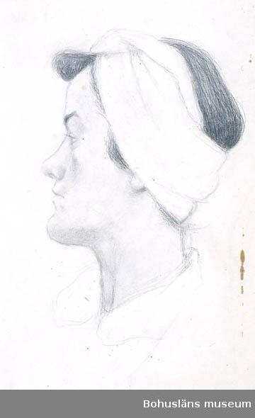 Stina Forssell; självporträtt