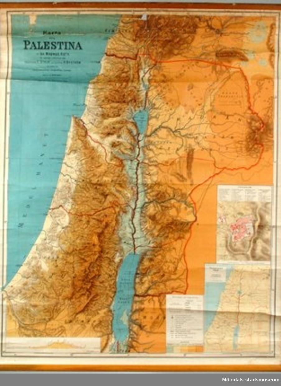 Skolplansch, motiv: Palestina.