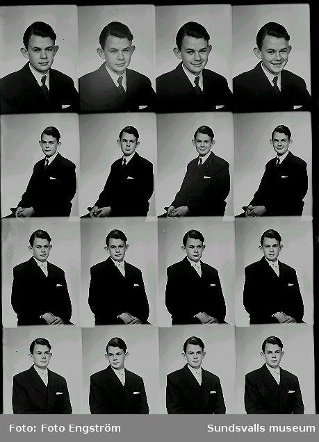 Porträttserie av ung man.