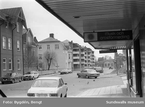 KMV inventering.  Östra långgatan och kvarteren därikring
