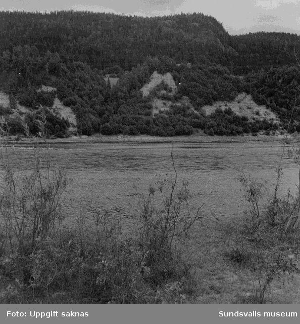 Utsikt mot norra älvstranden från samfälligheten nedanför Österflygge 3:10. Foto från SV.