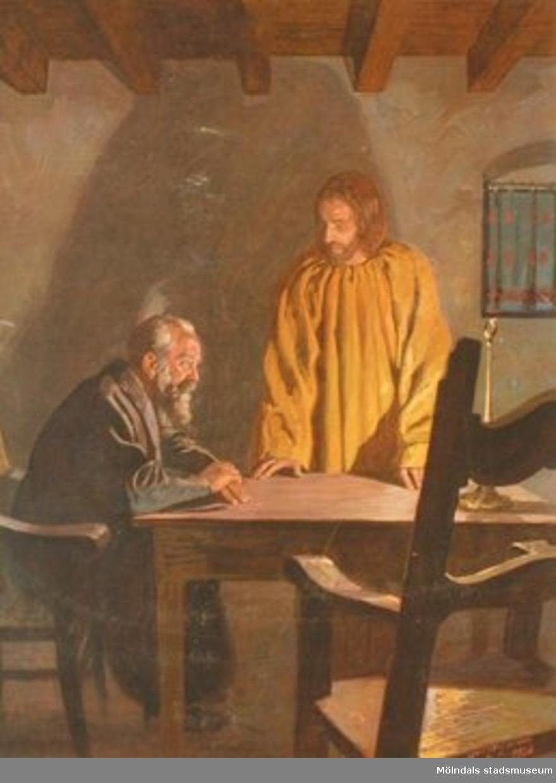 Kristendomskunskap.Jesus und Nikodemus.Konstnär: Hans Lietzmann, 1926.