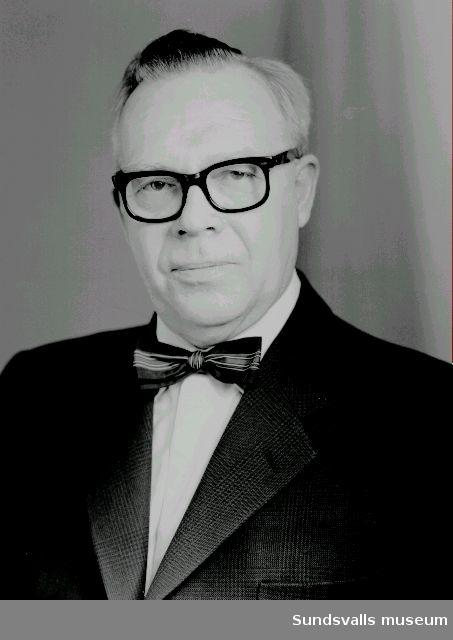 Porträtt. Herr Fritz Lind