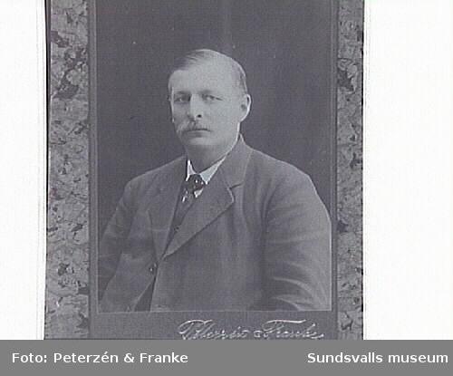 Porträtt på riksdagsman I O Vestlund.