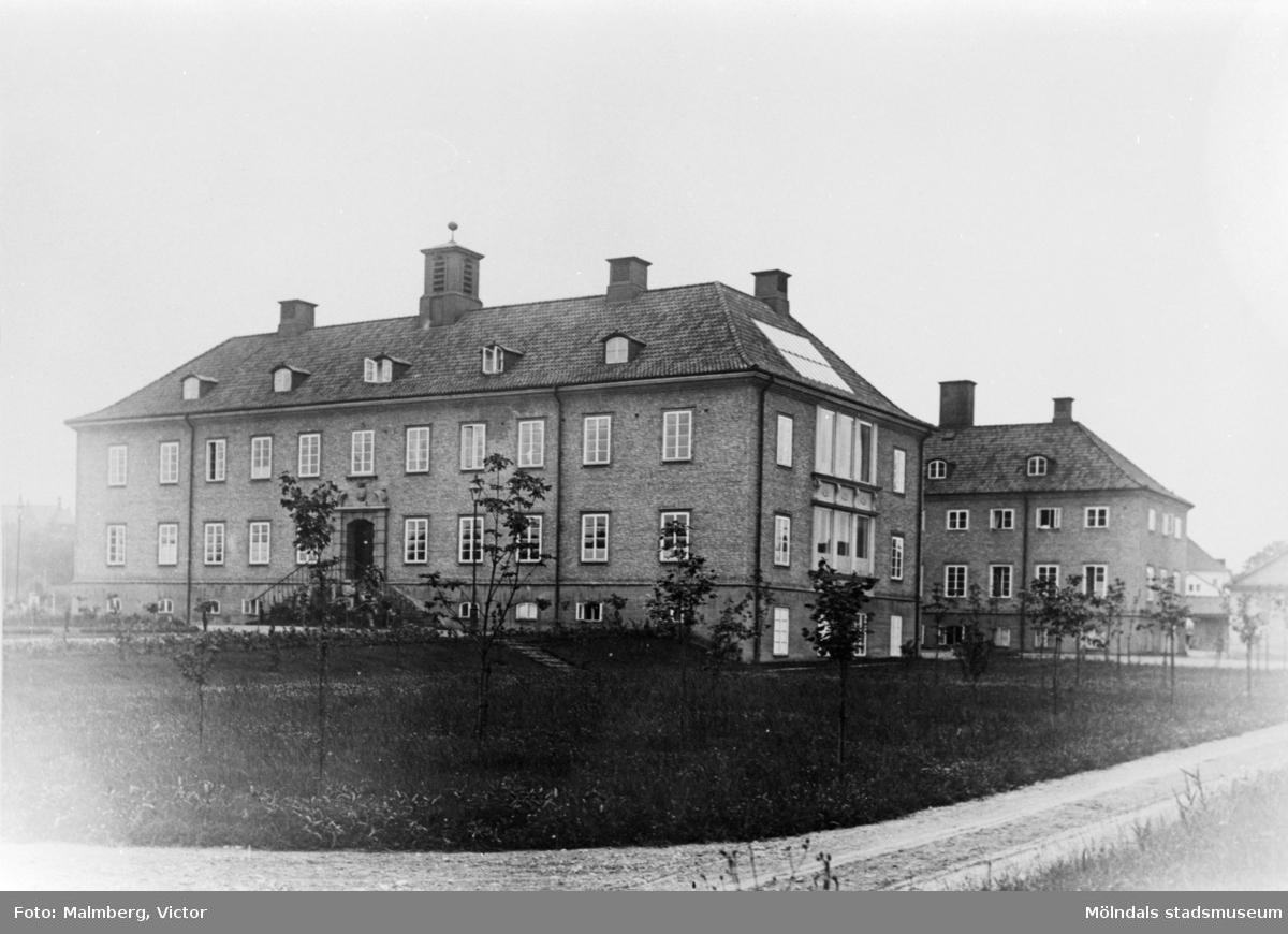 Mölndals sjukhus från nordost. Årtal okänt.