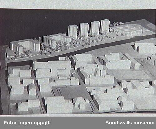 Modell av västra stenstaden och det planerade ny Norrmalm, 1960-talets slut