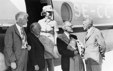 Från jubileumsflygningen med anledning av den första reguljära flygpostlinjen mellan Malmö och Warnemünde - den 12 augusti 1970.