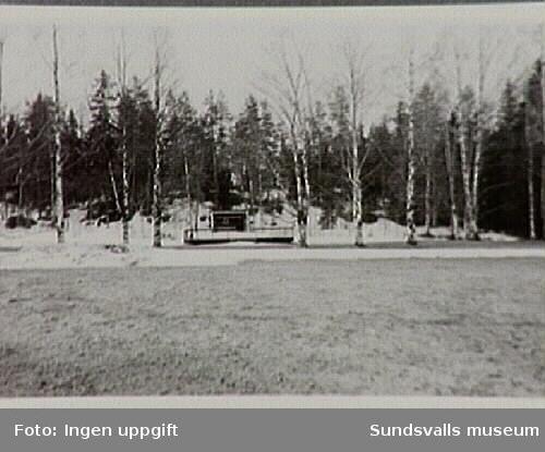 Dansbanan vid Sidsjöns sjukhus som anlades redan 1940.