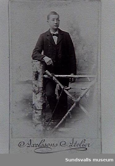 Vilhelm Lindström, Torkel Bobergs morfar, i unga dar. Han var född 1874.