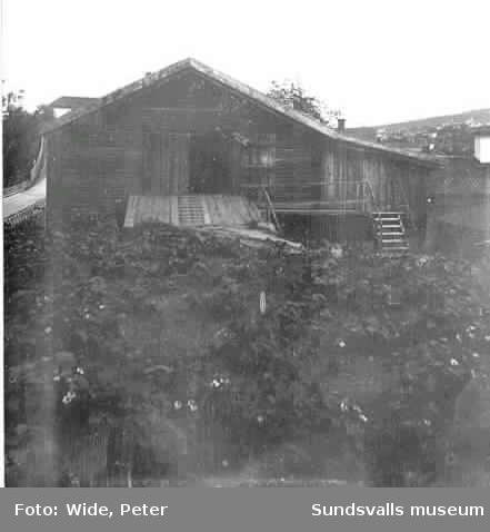Stall, ladugård och vagnslider på Widegården.