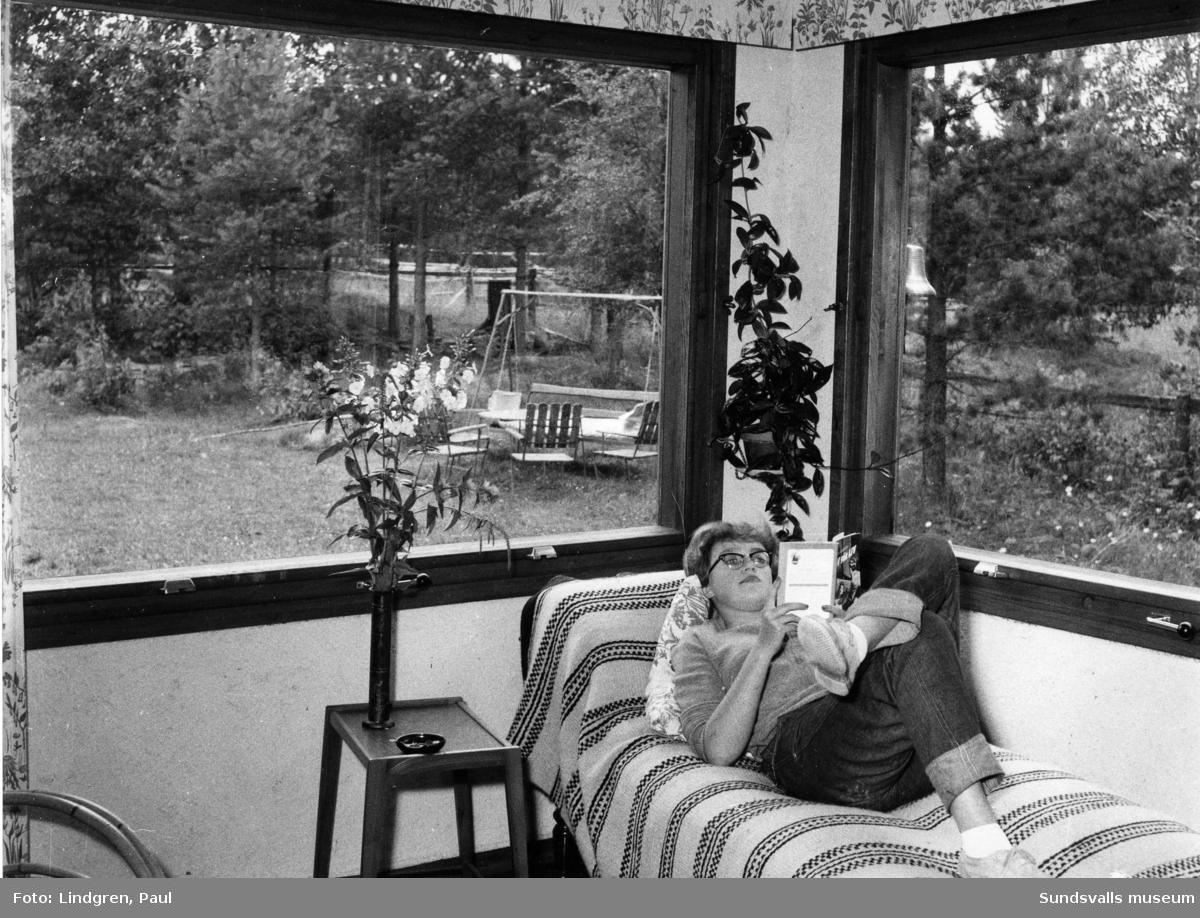 Bokläsning vid fönstret.